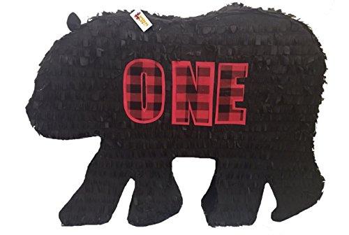 APINATA4U Lumberjack Bear Silhouette Pinata First ()