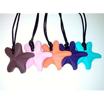 chubuddy Chewable Star Fish Pendant Chewie, Non-Toxic Material-Milk Chocolate: Health & Personal Care
