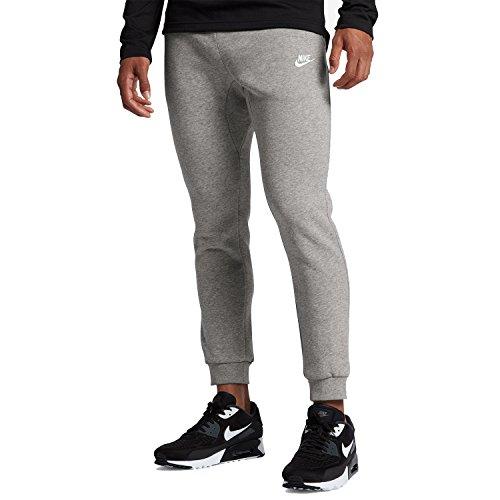 NIKE Sportswear Men's Club Joggers, Dark Grey Heather/White, X-Large