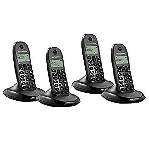 Motorola C1004LB+, Teléfono inalámbrico DECT, color negro: Amazon.es: Electrónica