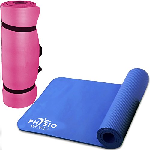 Physio World Thick Exercise Mat - 15mm Pink by phy (Image #1)