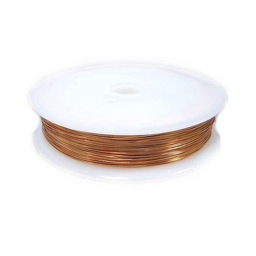1 x Peach Copper Craft Wire 35 Metre x 0.2mm Spool - (HA16265) - Charming (0.2 Mm Wire)