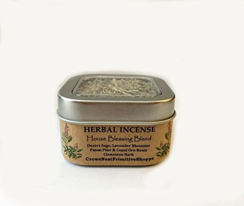 House Blessing Loose Herbal Incense blend contains wildcrafted desert sage, organically grown lavender, pinon pine resin, copal oro resin & organic cinnamon bark. Free Shipping!