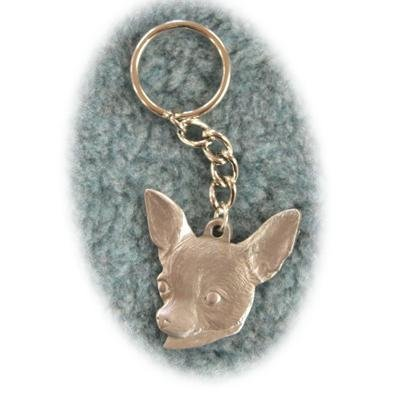 Superb Pewter Key Chain I Love My Chihuahua ()