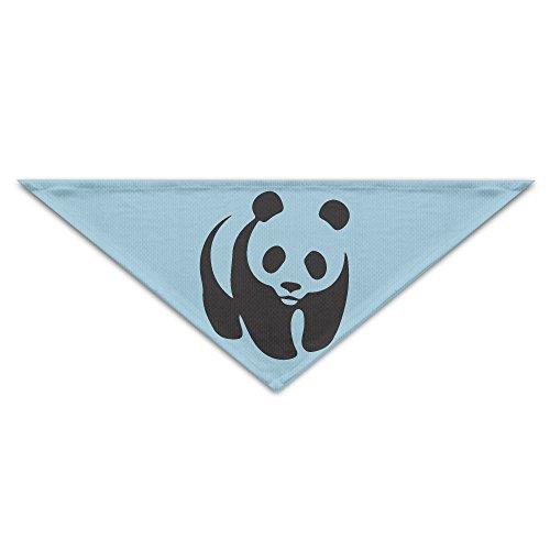 Cute Wwf Panda Baby Polyester Fiber 100% Pet Scarf Dog Bandana Collars