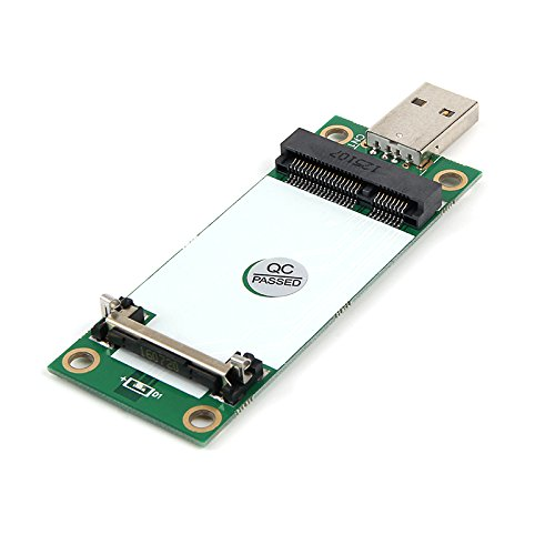 Mini PCIe WWAN Card to USB Adapter with SIM Slot, Mini PCI Express WWAN/LTE/4G Module Tester Converter, Support 30mm 50mm Wireless Wide Area Network Card