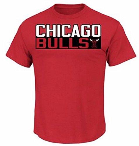 Scottie Pippen Chicago Bulls #33 NBA Men's Big and Tall Vertical Name & Number T-Shirt (2XL) ()