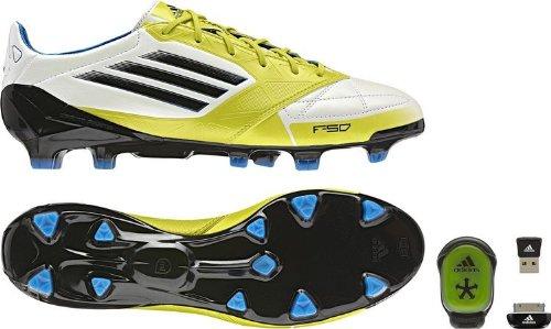 check out 9ccfb 226fd adidas F50 Adizero TRX FG Lea MICOACH Scarpe da Calcio Uomo, Bianco (Bianco)