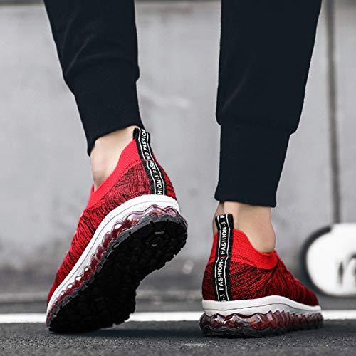 Full Cross Air Da Lace Fitness Palm Grigio Scarpe Sneakers Fall Spring Basse Up Knit E Uomo Rosso Training amp; Nero Cushion Yan Pallacanestro xw8pvUU
