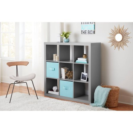 Better Homes and Gardens 9-cube Organizer Storage Bookcase Bookshelf, (Lawyers Bookcase Hardware)