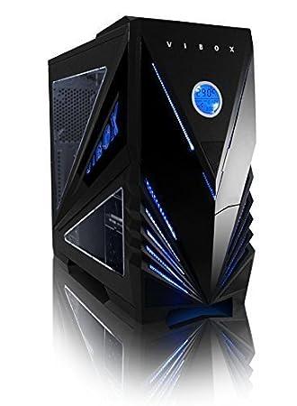 Vibox Tactician - Caja de ordenador de sobremesa negro y azul: Amazon.es: Informática