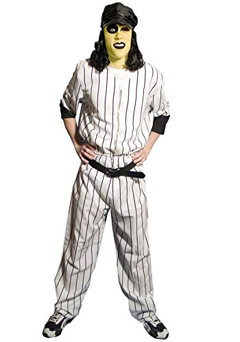 Warriors Movie Baseball Furies Official Deluxe Costume + Bonus Makeup Kit (XL)