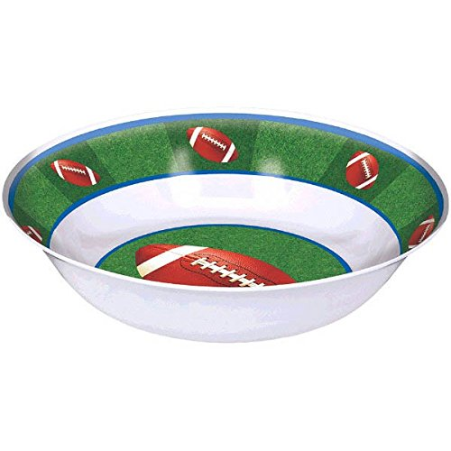 Amscan Football Frenzy Birthday Party Bowl, 1 Piece, Made from Plastic, 13