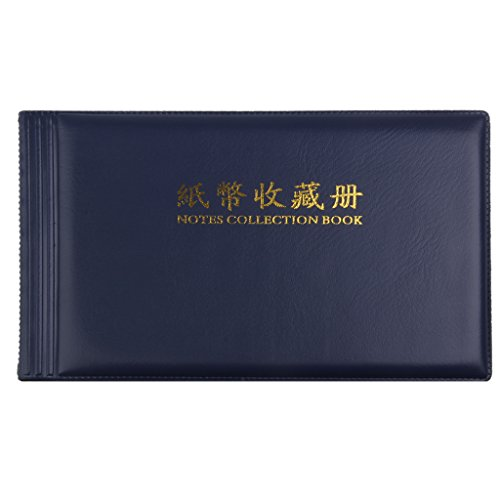 MagiDeal Banknote Currency Collection Album Paper Money Pocket Cash Collecting 30 Pages - Notes Paper Money