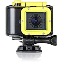 KOONLUNG N6S Sport Camera, Action Camera 1.5 Inch 160 Degree Ultra-wide Angle Lens Full HD 1080p Remote Control 40m Waterproof Sports Diving Camera with Accessories