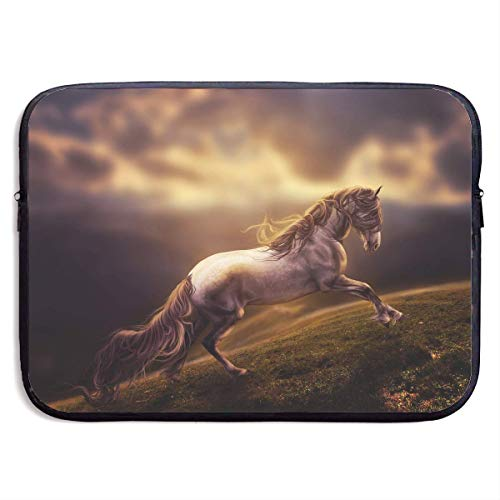 CHJOO Laptop Sleeve Bag Handsome Fantasy Horse Art 13/15 Inc