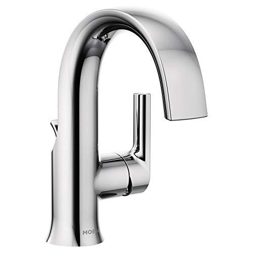 Moen S6910 Doux Collection One-Handle High Arc Laminar Stream Bathroom Faucet, Chrome (Bathroom Faucet One)