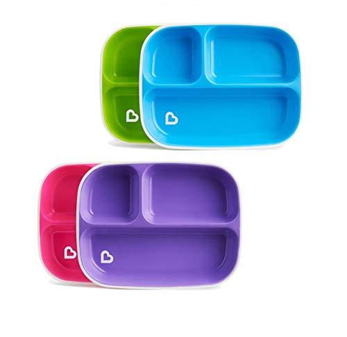 Munchkin Splash - Platos divididos (2 unidades, los colores pueden variar) Munchkin
