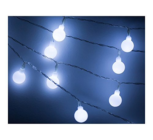 G40 25Ft Globe String Lights with Bulbs-UL Listd for Indoor/Outdoor Commercial Decorate
