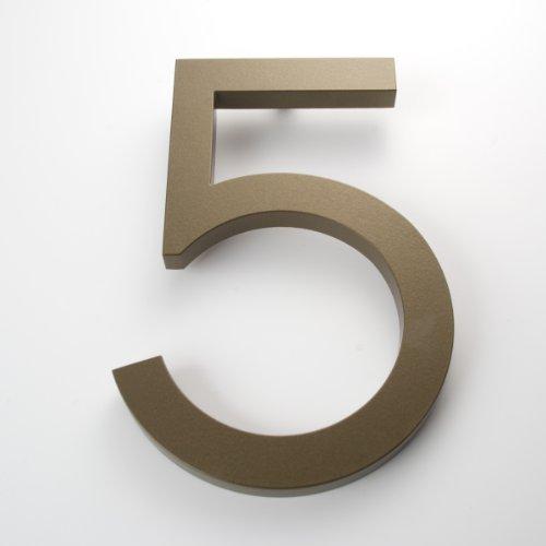 Modern House Number Bronze Color Aluminum Modern Font