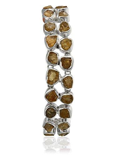 aarohee Marron clair en argent sterling Bracelet pierre établir Mèche pierres semi-précieuses pour femme aau130