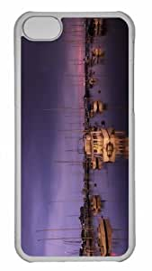 Customized iphone 5C PC Transparent Case - Yachts Evening Personalized Cover