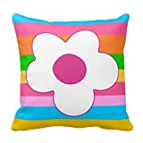 Flowergirl'S Room Kid'S Room Throw Pillows 18 x 18 Inches Bedding Home Decoration Square Throw Pillow Case Decorative Cushion Cover Pillowcase