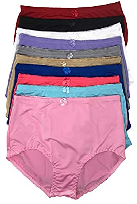 Peachy Panty Women's Pack of 6 Girdle Panties High Rise Tummy Control Girdle Panties