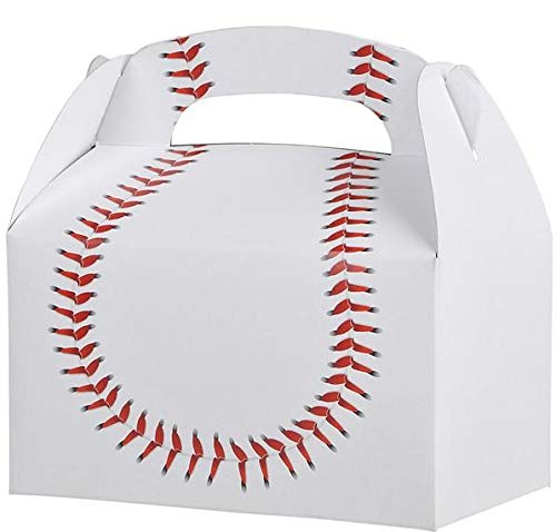 Rhode Island Novelty Baseball Treat Box Birthday Party Favor Boxes | 48 Pack |