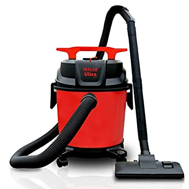 Inalsa Ultra WD10 Wet & Dry Vacuum Cleaner-1000W with 3in1 Multifunction Wet/Dry/Blowing  14KPA Suction and Impact Resistant Polymer Tank,(Red/Black) 8