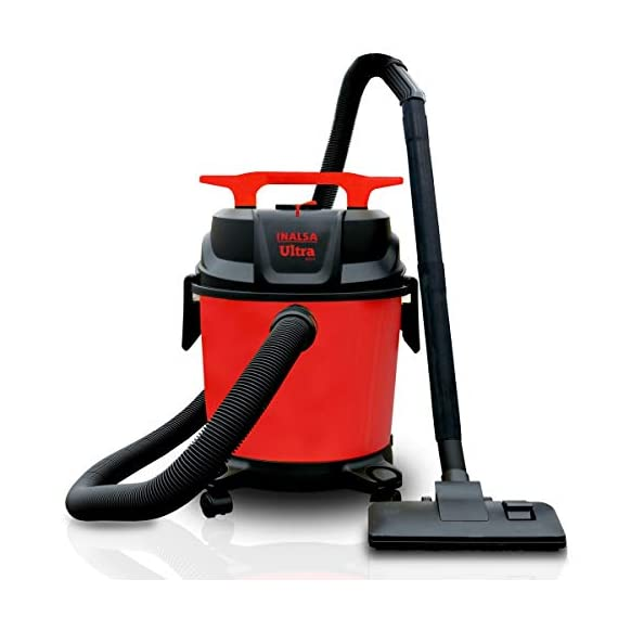 Inalsa Ultra WD10 Wet & Dry Vacuum Cleaner-1000W with 3in1 Multifunction Wet/Dry/Blowing  14KPA Suction and Impact Resistant Polymer Tank,(Red/Black) 1