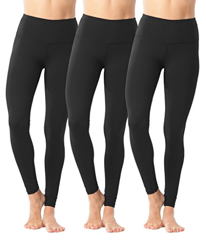 - 90 Degree By Reflex High Waist Power Flex Legging - Tummy Control - Black 3 Pack - Small