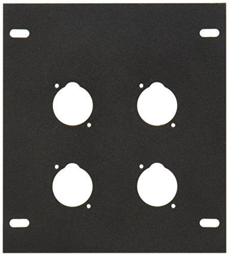 Elite Core FB-PLATE4 Unloaded Plate for Recessed Floor Box, 4-Punch (