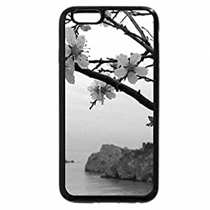 iPhone 6S Case, iPhone 6 Case (Black & White) - Flowers Beach