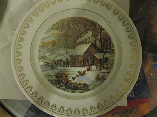 A Home in the Wilderness Roy Thomas Collection of Currier & Ives Winter Scenes China Plate