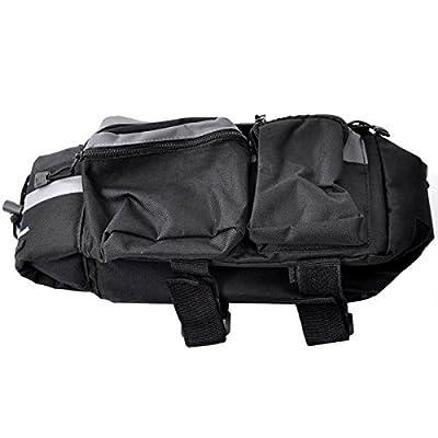 Black Multi-functional Bicycle Rear Seat Trunk Bag Shoulder Handbag Bag Pannier