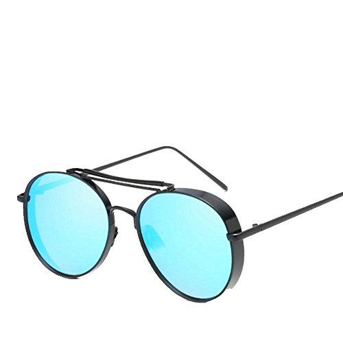 de sol gruesos de sol 6 con metal Shop Dos gafas de Gafas sol gafas Gafas sol de bordes YOXqZC