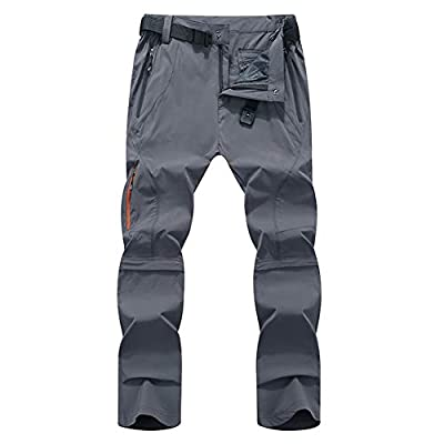 CARWORNIC Men's Outdoor Quick Dry Convertible Pants Lightweight Hiking Camping Cargo Shorts