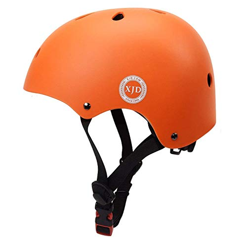 XJD Toddler Helmet Kids Bike Helmet CPSC Certified Adjustable Bike Helmet Ages 3-8 Girls Boys Safety Skating Scooter Cycling Rollerblading (Orange)