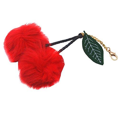 melie-bianco-girls-red-faux-cherry-pom-pom-leaf-keychain