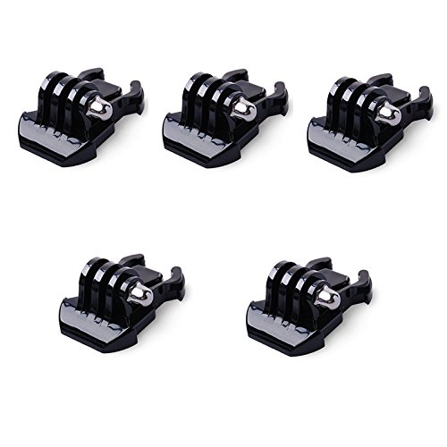 QKOO 5x Quick Release Buckle Clip Basic Base Mount for GoPro Hero 1 2 3 3+ 4 5 6 Accessories SJCAM SJ4000 SJ5000 SJ6000 (Hero Quick Release)