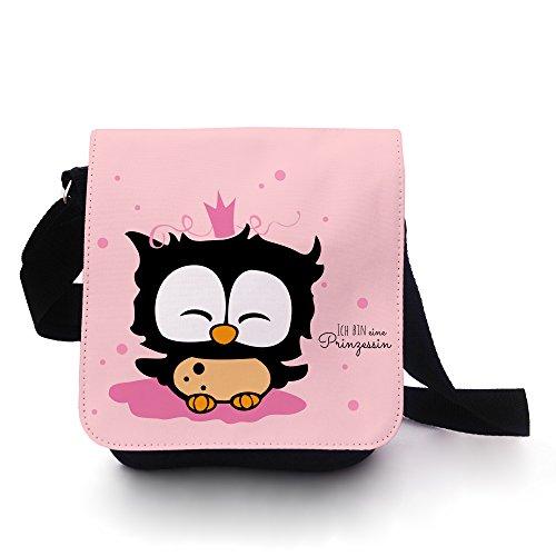 7e1b4349da9a1 Eulentasche Tasche Kindertasche Handtasche Schultasche Schultertasche  Prinzessin Eule mit Krone und Spruch ich bin eine Prinzessin