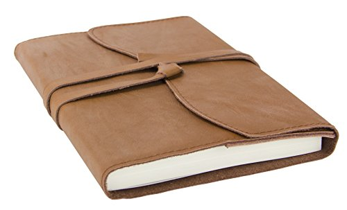Red Co Classic Soft Genuine Leather Journal, 6'x 8', 240 Lined Pages, Refillable, Brown