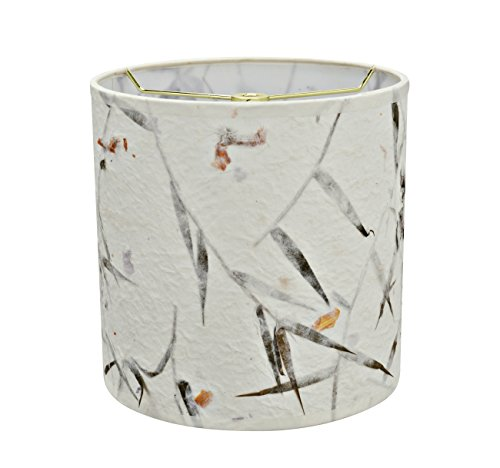 Aspen Creative 31223 Transitional Drum (Cylinder) Shaped Spider Construction Lamp Shade, 8'' x 8'' x 8'', Off White by Aspen Creative (Image #1)