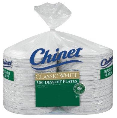 Chinet Classic White Dessert Plates, 300 ct 6 3/4