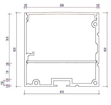 PN17 Capella perfil de aluminio F, de la tira LED 2 M + de la cubierta de ópalo Glass: Amazon.es: Iluminación