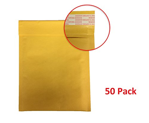 enKo Products Kraft Bubble Mailers PS-0L (6.5x10) 50-Envelope Pack