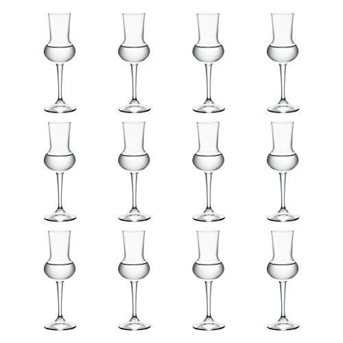 Bormioli Rocco Restaurant Grappa Liqueur Glass with Stem - 80ml - Pack of 12