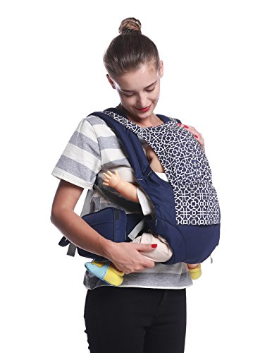 Mobesy Baby Carrier, Ergonomic Lightweight Soft Sling, All Carry Positions, Detachable Pouch and Waistbelt, Newborn to Toddler, UA8908