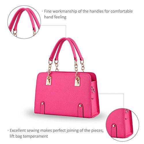 NICOLE&DORIS nuevas mujeres del bolso de hombro cadena de moda bolsa de mensajero del monedero Rose Red
